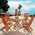 TEAK-Sitzgruppe Elegance (4Stühle + Achteck-Tisch) von Gärtner Pötschke bei Gartenmöbel von Du und Dein Garten