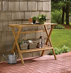Merry Garden Simple Potting Bench and Console Table by Merry Product - Lawn & Garden
