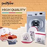 PrettyCare Mesh laundry Bag ( Set of 5, Ultra thick, Unique Symbol ) Wash Bag - Best Luxury Garment Washing Bag for Washer Machine & Dryer - Perfect Organizer of Bra Delicates Sock Lingerie Underwear