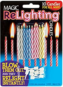 Loftus Magic Trick Relighting Birthday Candles 10pc