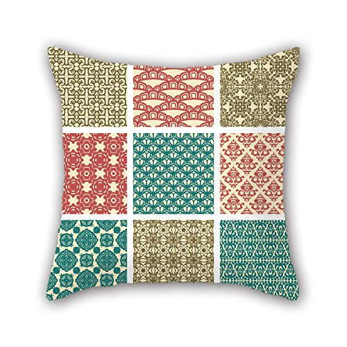 NICEPLW 20 X 20 Inches / 50 By 50 Cm Color Block Pillow Cases,double Sides Is Fit For Office,seat,valentine,gril Friend,bar,festival (Target One Dollar Spot compare prices)