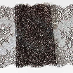 New 22cm Width 3 meters Eyelash Lace Trim Jacquard Lace Embroidered Sewing Applique French Chantilly Net Lace Fabric black red pink black