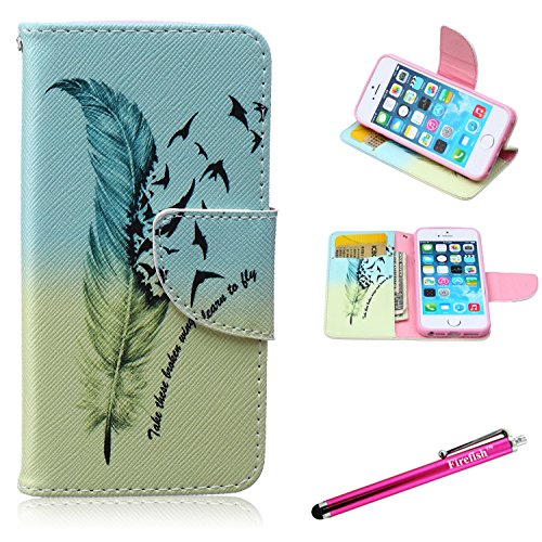 IPhone 6S Case, Firefish [Kickstand] [Card Slots] Slim Flip PU Leather Wallet [Shock Absorption] Scratch-Resistant Protect for Apple iPhone 6/6S 4.7