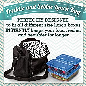 Freddie and Sebbie Lunch Bag - Fashionable Insulated and Reusable - Luxury Lunch Bags For Women, Men, Adults, Kids, Girls, and Teen Girls from Freddie and Sebbie