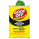 Goof Off FG677 Super Glue Remover, 4-Ounce