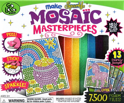 Giddy-Up Go Loco Make Masterpieces Mosaic Glitter Art Activity Kit (Large)