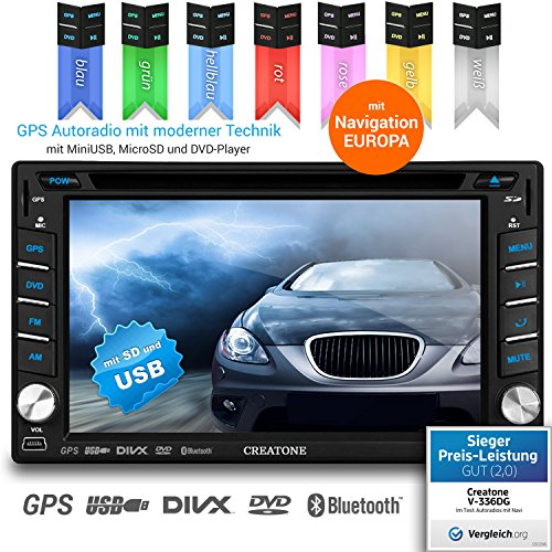 2DIN-Autoradio-CREATONE-V-336DG-mit-GPS-Navigation-Europa-Bluetooth-Touchscreen-DVD-Player-und-USBSD-Funktion