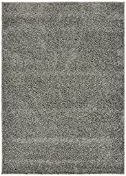 Shaggy Collection Solid Color Shag Area Rugs (Gray, 3\'3\