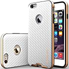 iPhone 6 Plus Case, Caseology [Bumper Frame] Apple iPhone 6 Plus (5.5 inch) Case [Carbon Fiber White] Slim Fit Skin Cover [Shock Absorbent] TPU Bumper iPhone 6 Plus Case [Made in Korea] (for Apple iPhone 6 Plus Verizon, AT&T Sprint, T-mobile, Unlocked)