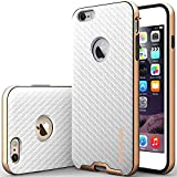"iPhone 6 Plus Case, Caseology [Bumper Frame] Apple iPhone 6 Plus (5.5"" inch) Case [Carbon Fiber White] Slim Fit Skin Cover [Shock Absorbent] TPU Bumper iPhone 6 Plus Case [Made in Korea] (for Apple iPhone 6 Plus Verizon, AT&T Sprint, T-mobile, Unlocked)"