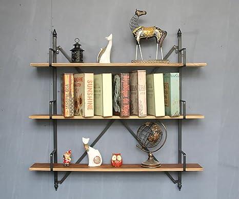 cdbl-mensola Libreria, American country bar a tre ripiani, parete divisoria in legno per scaffali caffetteria Mensola