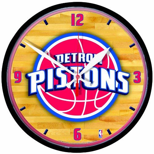 NBA Detroit Pistons Round Clock