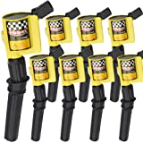Bravex High Performance Curved Boot Ignition Coil for Ford F-150 Lincoln Mercury 4.6L 5.4L V8 Compatible with DG508 C1454 C1417 FD503 (Color: Yellow(Upgrade))