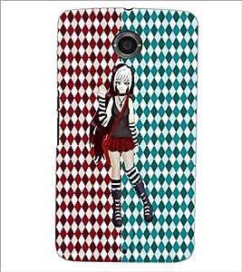PrintDhaba Cute Girl D-3500 Back Case Cover for MOTOROLA GOOGLE NEXUS 6 (Multi-Coloured)