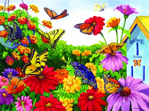 Cheap SunsOut MINI – Butterfly Garden Mini 7×9 100pc Jigsaw Puzzle by Nancy Wernersbach (B004HSBX1Q)