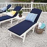 Nautical Wheel Chaise Lounge Finish: Green