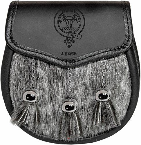 lewis-semi-dress-sporran-fur-plain-leather-flap-scottish-clan-crest