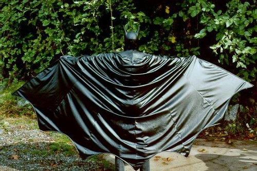 BATMAN DARK KNIGHT REPLICA PLEATHER CAPE HALLOWEEN COSTUME PROP CUSTOM LENGTH