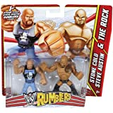 WWE Rumblers Stone Cold and The Rock Action Figure, 2-Pack