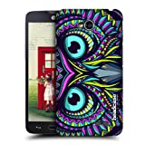 Head Case Designs Owl Aztec Animal Faces Protective Snap-on Hard Back Case Cover for LG L70 D320