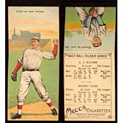 Buy 1911 T201 Mecca Double Folders (Baseball) Card# 36 Arnold Hauser Ernest Lush Ex Condition by T201 Mecca