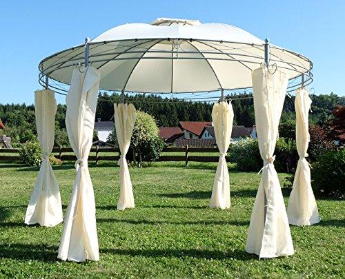 Eleganter Garten Pavillon Gartenpavillon 3,5 Meter Durchmesser mit 6 Vorhängen 7073-A von AS-S