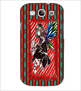 PrintDhaba Sweet Girl D-3084 Back Case Cover for SAMSUNG GALAXY S3 (Multi-Coloured)