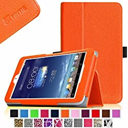 Fintie Premium Vegan Leather Case for ASUS MeMO Pad 8 ME180A Tablet Slim Fit Leather Stand Cover With Auto Wake / Sleep Feature - Orange