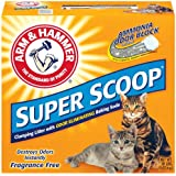 Arm & Hammer Super Scoop Clumping Litter, Unscented, 20-Pounds