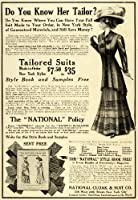 1908 Ad Womens Tailored Suits Hat Dress National Cloak Suit Company Fashion - Original Print Ad by Authenticated