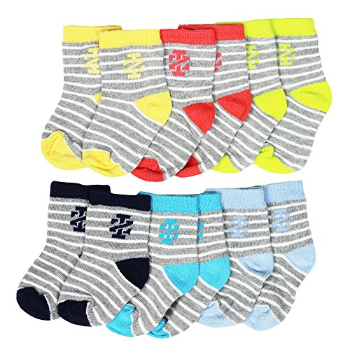buy IZOD 6 Pack of Baby Boys - Thin Striped Socks - 6-12M (Infant Ankle Socks) for sale