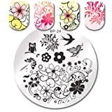 Summer Fruit Nail Art Stamping Template Tropical Punch Pattern Rectangle Image Plate Stamping Polish Needed BP-24 (Color: BP-24)