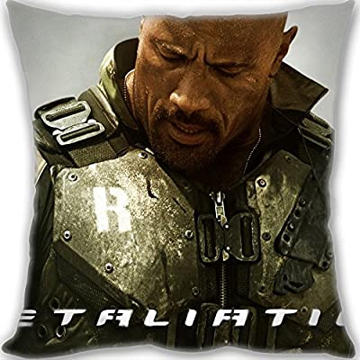 2016 sofa decorate Christmas gift pillow cushion for leaning on,GI Joe 2 Retaliation The Rock Pillow Custom,60x60cm(24x24inch) Big Size 900g(1.98lb) pillow (Pillow inner is included).
