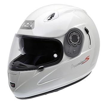 NZI 010193G008 Premium S Casque de Moto, Taille L Blanc