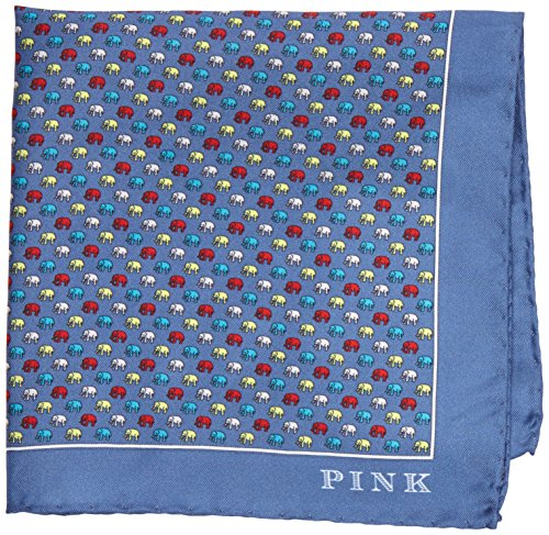 thomas-pink-elephant-print-pocket-square-mouchoirs-homme-multicoloured-blue-multi-taille-unique