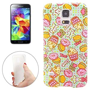 Crazy4Gadget Popcorn and Biscuit Pattern TPU Case for Samsung Galaxy S5 / G900