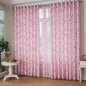 Fadfay Hello Kitty Curtain Hello Kitty Decoration Bedroom Window Curtain For Girls