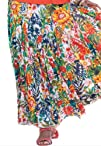 Jessica London Plus Size Cotton Crinkle Skirt