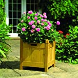 Gardman 43cm Square Wood Planter Tanby Gardman Limited