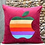 Multi Coloured Apple-Bright Colours And Beautifully Etched Motif In Velvet