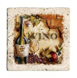 Travertine Stone Coasters Vino - Pinot Grigio Set of Four