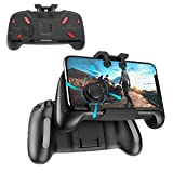 Newseego PUBG Mobile Game Controllers, Cool Technology Style One-piece Controller | Shooter Controller Joysticks Gamepad for PUBG/Knives Out/Rules of Survival - Portable Gamepad with Triggers (Color: Black)
