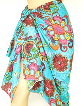 Women's Cotton Beach Sarongs - Beautiful printed beach summer wrap sarong for ladies - LOVARZI
