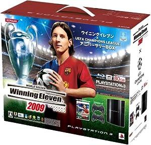 PLAYSTATION 3(80GB) ウイニングイレブン x UEFA Champions League アニバーサリーBOX(クリアブラック)