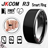 Jakcom® R3 Smart Ring Consumer Electronics Mobile Phone Accessories 2016 Trending Products Android Smart Watch Phones Smartwatch (Black, 10) (Color: Black, Tamaño: 10)