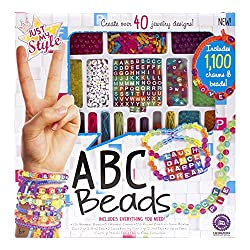 Just My Style Abc Beads Art and Craft,Multi Color