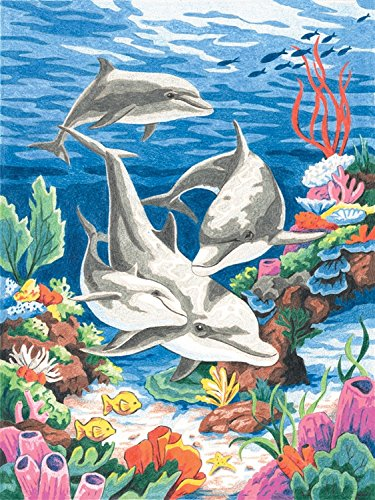 Dimensions Needlecrafts Paintworks/Pencil by Number, Dolphins In The Sea - 1
