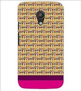 PrintDhaba Owl pattern D-1859 Back Case Cover for MOTOROLA MOTO G2 (Multi-Coloured)