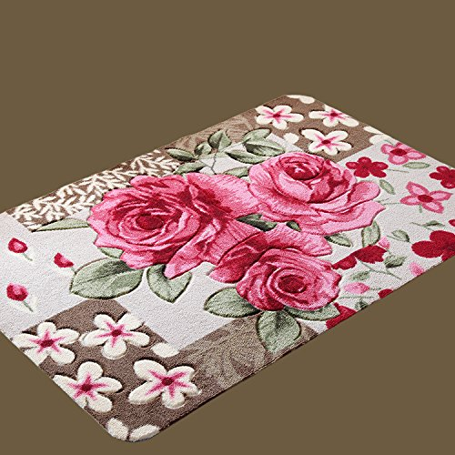 Diaidi 1 Rose Carpet Floor Mat Handmade Rug Anti-slip Modern Carpet Kitchen Area Rugs,rose Shaped Rugs