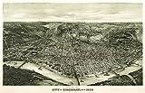 Cincinnati, Ohio - Panoramic Map (12x18 Art Print, Wall Decor Travel Poster)